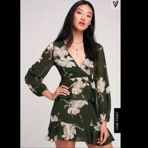 Lulu's | ruffle skirt mini dress